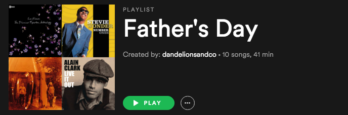Father's Day playlist